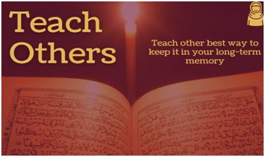 Teach others