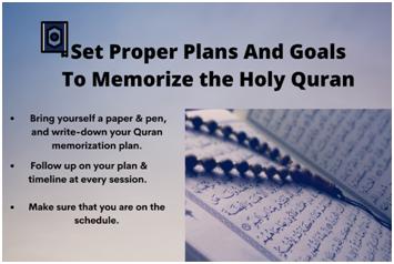 Set proper plans and goals