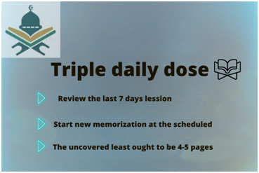 Triple daily dose